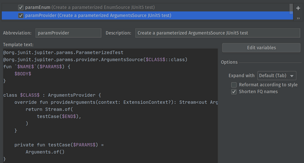Fighting Testing Boilerplate with IntelliJ IDEA Live Templates